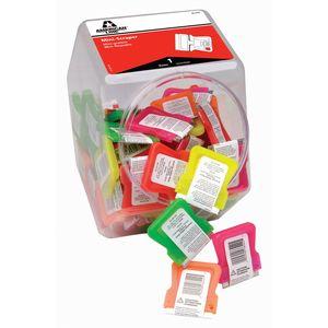American Safety Razor 66-0442-CJAR Mini Scraper w/1 Blade - Neon Colors in Jar of 100