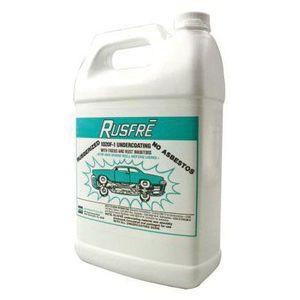 Rusfre 1020F-1 1020F-1 Rubberized Undercoating, 1 gal, Black, Liquid, Rubberized (Y/N): Yes