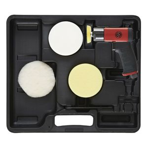 Chicago Pneumatic CPT7201P 7201P Mini Polisher Kit, 3 in Dia Pad, 2500 rpm, 10.5 cfm, 90 psi