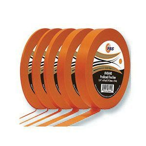 FBS (Finding Better Solutions) 48430 48430 Fine Line Medium Masking Tape, 60 yd x 1/2 in, Polymer Backing, Orange