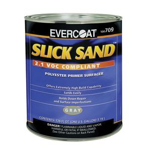 EVERCOAT® 100709 100709 Extra High-Build Polyester Primer Surfacer, 1 gal Round Can, Gray