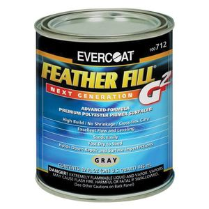 EVERCOAT® 100712 100712 High-Build Polyester Primer Surfacer, 1 qt Round Can, Gray, High-Build