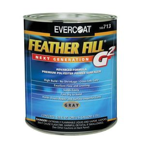 EVERCOAT® 100713 100713 High-Build Polyester Primer Surfacer, 1 gal Round Can, Gray