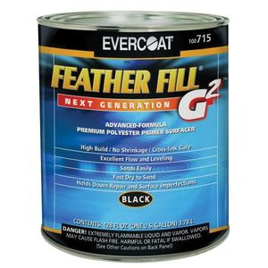 EVERCOAT® 100715 100715 High-Build Polyester Primer Surfacer, 1 gal Round Can, Black
