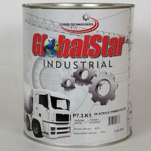 GlobalStar P7.3.K1 P7.3.K1 High Build 2K Acrylic Primer Filler, 1 gal Can, Gray, 563.3 g/L VOC, 4:1 Mixing