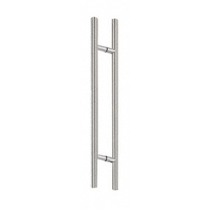 "Brushed Stainless 84"""" Extra Length Ladder Style Back-to-Back Pull"