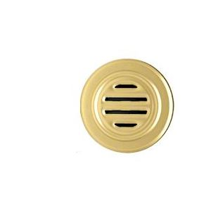 "CRL 834BGA Brite Gold Anodized Aluminum 5-5/16"" No-Draft Speak-Thru"