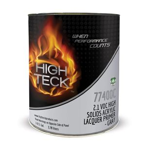 High Teck Products HT-77400C-1 2.1 VOC High Solids Acrylic Lacquer Primer-Gray-GL