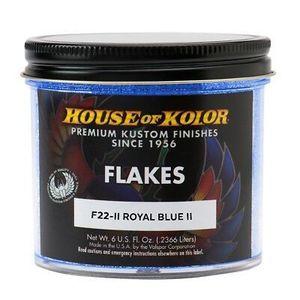 House of Kolor F22II.C01 F22II-C01 F Series Dry Flake, 6 oz Can, Royal Blue II, 1/128th Rectangle