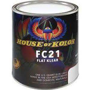 House of Kolor FC21.Q01 FC21-Q01 Low VOC Urethane Flat Clearcoat, 1 qt Can