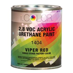 iColor ICO.1404-1 1404-1 1400 1-Stage Acrylic Urethane Paint, 1 gal, Viper Red, 4:1:1 Mixing