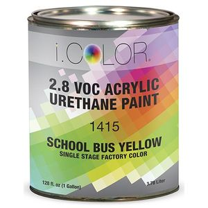 iColor ICO.1415-1 School Bus Yellow Single Stage FPC - 2.8 VOC