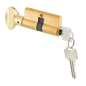 CRL K5062 Screen and Storm Door Key Cylinder With Thumb Turn with Kwikset Weiser Keyway