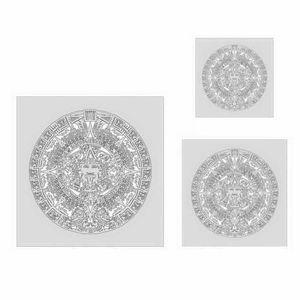 ANEST IWATA FH-AZTFX-1 FH-AZTFX-1 Aztek FX Series Freehand Airbrush Template Set, Polymer, Transparent