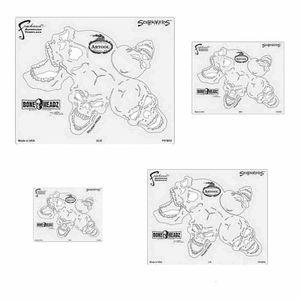 ANEST IWATA FH-BH2 FH-BH2 Boneheadz Series Freehand Airbrush Template Set, Mylar, Transparent