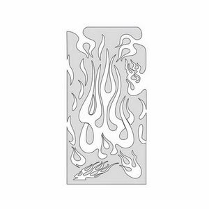 ANEST IWATA FH-FM1 FH-FM1 Flame Master Series The Medium Freehand Airbrush Template, 5-1/2 in L x 11 in W