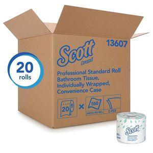 Scott™ 13607 13607 Convenience Case Standard Essential Toilet Paper Roll, 4.1 x 4 in, 2 Plys