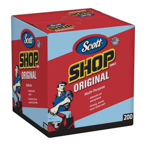 Scott™ 75190 75190 Multi-Purpose Shop Towel, 10 x 12 in, 200, Blue, Multi-Purpose, 1 Plys