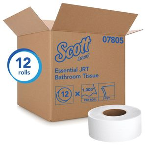 Scott™ 7805 07805 Standard Jumbo Essential Toilet Paper Roll, 1000 ft x 3.55 in, 2 Plys