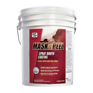 Klean-Strip CMP229 CMP229 Peelable Spray Booth Coating, 4.75 gal, Thick Liquid, Bright White, Peelable