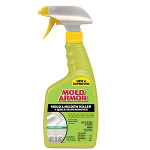 Mold Armor FG502 FG502 Mold and Mildew Killer with Quick Stain Remover, 32 oz Bottle, Light Yellow, Liquid