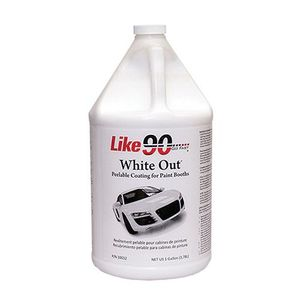 Like90™ 10032 10032 Peelable Booth Coating, 1 gal Can, 150 sq-ft/gal Coverage, White
