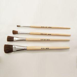 """Mack Brushes 5170-1/2 Camel Hair/ size 1/2"""" / Plain Varnished Handle/ 1 Ea."""
