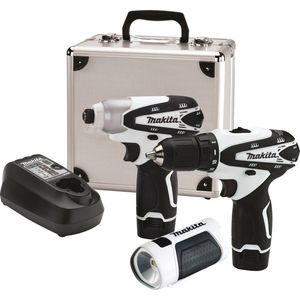 Makita LCT314W 12V max Lithium-Ion Cordless 3 Pc. Combo Kit, FD02ZW, DT01ZW, LM01W, case