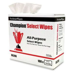 MDI 86206 86206 All Purpose Cleaning Wipes, 100, 17 in L x 9 in W, DRC, White