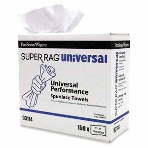 MDI 93114 93114 High Performance Supreme Towel, 150, 17 in L x 9 in W, Spunlace, White