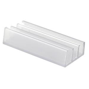 "CRL M6089 Clear 1-1/4"" Wide Sliding Shower Door Bottom Guide - pack of 2"