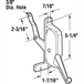 CRL H3674 Right Hand Awning Window Operator for Stanley Windows