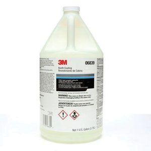 3M 6839 06839 Booth Coating, 1 gal, Liquid, Clear