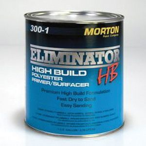 Morton 300-1 300-1 High Build Polyester Primer, 1 gal Can, Gray, 20 min Curing