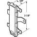 CRL-USALUM ALUM-N6603-VCP-1 Wardrobe Door Bottom Guide for Cox Track Systems