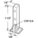 "CRL-USALUM ALUM-G3004-VCP-1 7/16"" Nylon Sliding Window Roller for Guaranteed Products Windows"