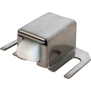 CRL M6014 Brushed Stainless Finish Shower Door Catch with Nylon Tip