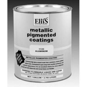 PCL® 1123-1 1123-1 Metallic Pigmented Coating, 1 gal Can, Metallic Silver, 750 sq-ft/gal Coverage