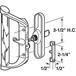 """CRL-USALUM ALUM-C1017-VCP-1 Aluminum/Wood Hook-Style Surface Mount Handle 3-1/2"""" Screw Holes - Keyed"""