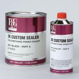 PCL® 2671GL 2671-1 2K Custom Sealer, 1 gal Can, High Gloss Black, 486 sq-ft/gal Coverage