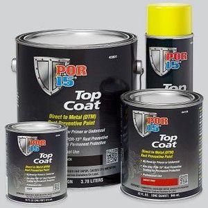 POR-15® 45804 45804 Top Coat DTM Paint, 1 qt Can, Gloss Black, Liquid, 30 to 60 min Curing