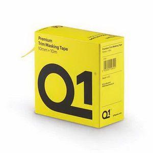 Q1® TT01 TT01 Premium Self-Adhesive Trim Masking Tape, 10 m, 10 mm THK, Sun Yellow