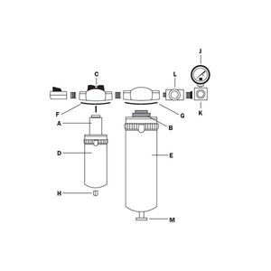 RTi 4P-060 4P-060 1-Stage Replacement Filter Element, For Use With Eliminator II 25 scfm Desiccant Dryer
