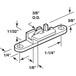 "CRL G3038B 3/8"" Steel Sliding Window Roller for Tomray Tyco 66 Windows - pack of 40"