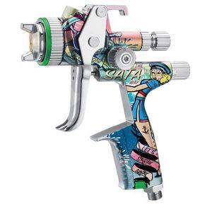 SATA 1033737 1033737 HVLP Standard Spray Gun with Cup, 1.5 mm Nozzle, 0.3, 0.6, 0.9 L Capacity