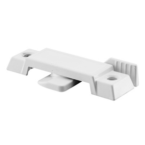 "CRL F2590 White Sliding Window Lock with 2-1/4"" Screw Holes and 3/8"" Latch Projection"