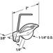 """CRL B515B 1-1/4"""" Nylon Sliding Screen Door Spring Tension Roller - Bulk 50/Pk"""