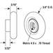 """CRL M6206 3/4"""" Sliding Oval Edge Shower Door Roller"""