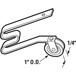 """CRL B512B 1"""" Nylon Sliding Screen Door Spring Tension Roller - pack of 50"""