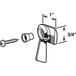 CRL R7150 Left Hand Black Sliding Window Latch Single Screw Hole